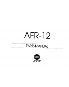 Konica-Minolta Options AFR-12 Parts Manual