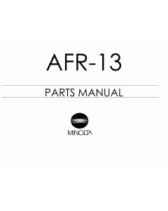 Konica-Minolta Options AFR-13 Parts Manual