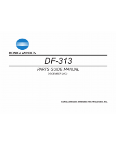 Konica-Minolta Options DF-313 Parts Manual
