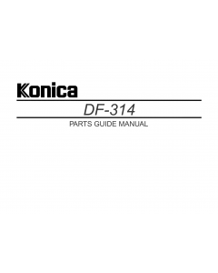 Konica-Minolta Options DF-314 Parts Manual