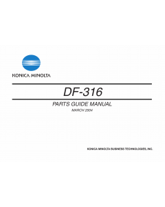 Konica-Minolta Options DF-316 Parts Manual