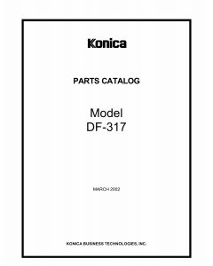 Konica-Minolta Options DF-317 Parts Manual