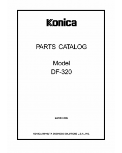 Konica-Minolta Options DF-320 Parts Manual