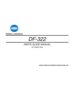 Konica-Minolta Options DF-322 Parts Manual