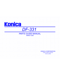 Konica-Minolta Options DF-331 Parts Manual