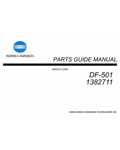 Konica-Minolta Options DF-501 1382711 Parts Manual