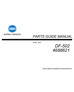 Konica-Minolta Options DF-502 4688621 Parts Manual