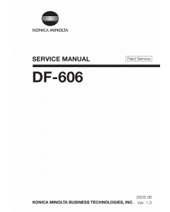 Konica-Minolta Options DF-606 FIELD-SERVICE Service Manual