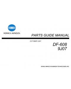 Konica-Minolta Options DF-608 9J07 Parts Manual