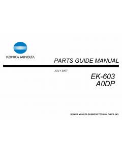 Konica-Minolta Options EK-603 A0DP Parts Manual