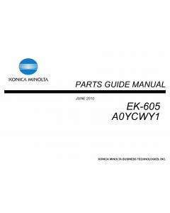 Konica-Minolta Options EK-605 A0YCWY1 Parts Manual