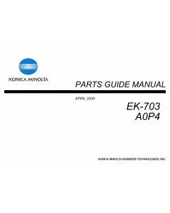 Konica-Minolta Options EK-703 A0P4 Parts Manual