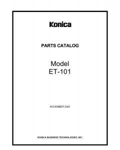 Konica-Minolta Options ET-101 A0GF Parts Manual