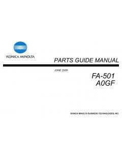 Konica-Minolta Options FA-501 A0GF Parts Manual