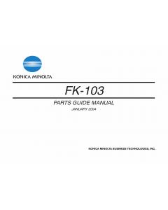 Konica-Minolta Options FK-103 Parts Manual