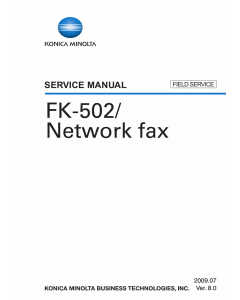 Konica-Minolta Options FK-502 FIELD-SERVICE Service Manual