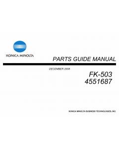 Konica-Minolta Options FK-503 4551687 Parts Manual