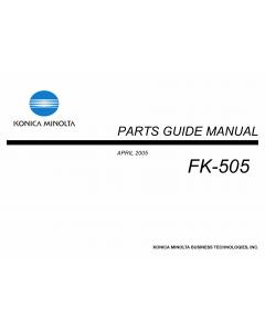 Konica-Minolta Options FK-505 Parts Manual