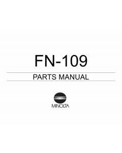 Konica-Minolta Options FN-109 Parts Manual