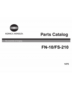 Konica-Minolta Options FN-10 210 Parts Manual