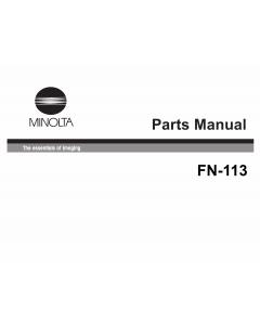 Konica-Minolta Options FN-113 Parts Manual