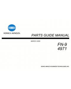 Konica-Minolta Options FN-9 4971 Parts Manual