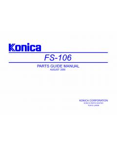 Konica-Minolta Options FS-106 Parts Manual
