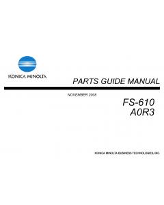 Konica-Minolta Options FS-610 A0R3 Parts Manual