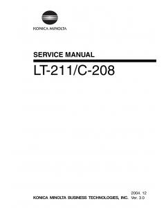 Konica-Minolta Options LT-211 C-208 Service Manual
