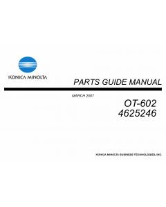 Konica-Minolta Options OT-602 4625246 Parts Manual