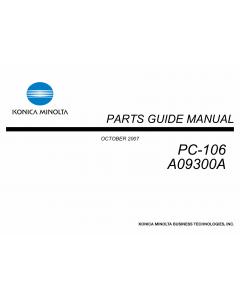 Konica-Minolta Options PC-106 A09300A Parts Manual