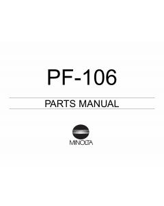 Konica-Minolta Options PF-106 Parts Manual