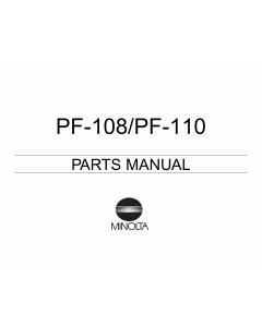 Konica-Minolta Options PF-108 110 Parts Manual