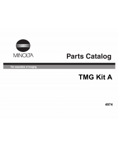 Konica-Minolta Options TMG-Kit-A Parts Manual