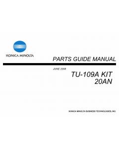 Konica-Minolta Options TU-109A-Kit 20AN Parts Manual