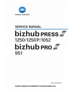Konica-Minolta bizhub-PRESS 1052 1250 1250P Service Manual