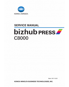 Konica-Minolta bizhub-PRESS C8000 FIELD-SERVICE Service Manual