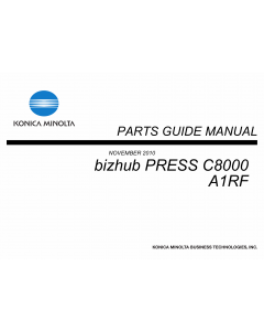 Konica-Minolta bizhub-PRESS C8000 Parts Manual