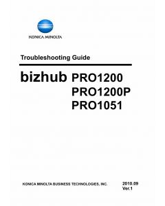 Konica-Minolta bizhub-PRO 1051 1200 1200P Troubleshooting Service Manual
