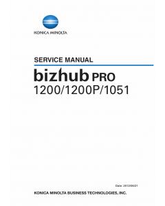 Konica-Minolta bizhub-PRO 1200 1200P 1051 Service Manual