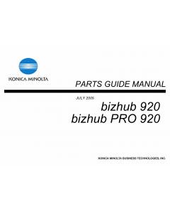 Konica-Minolta bizhub-PRO 920 Parts Manual