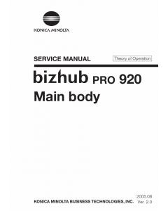 Konica-Minolta bizhub-PRO 920 THEORY-OPERATION Service Manual