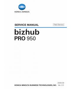 Konica-Minolta bizhub-PRO 950 FIELD-SERVICE Service Manual