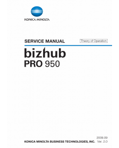 Konica-Minolta bizhub-PRO 950 THEORY-OPERATION Service Manual