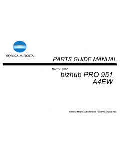 Konica-Minolta bizhub-PRO 951 Parts Manual