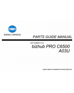 Konica-Minolta bizhub-PRO C6500 Parts Manual