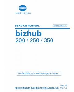 Konica-Minolta bizhub 200 250 350 FIELD-SERVICE Service Manual