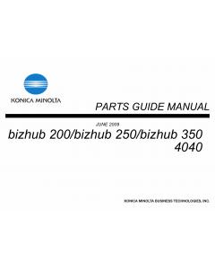 Konica-Minolta bizhub 200 250 350 Parts Manual