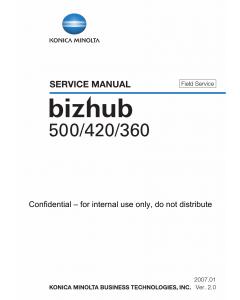 Konica-Minolta bizhub 360 420 500 FIELD-SERVICE Service Manual
