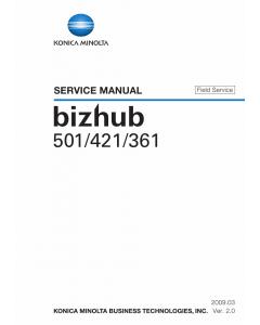 Konica-Minolta bizhub 361 421 501 FIELD-SERVICE Service Manual